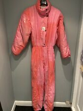 Womens Vintage 1990s Full Ski Suit Jumpsuit by Luhta Finland Pink Size Small