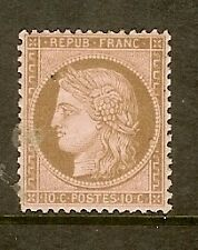 "FRANCE STAMP TIMBRE N° 58 "" CERES 10c BRUN SUR ROSE 1873 "" NEUF x A VOIR"