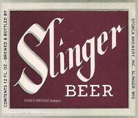 Slinger Beer Storck Brewing Vintage Antique Poster Ad Print Slinger, Wisconsin