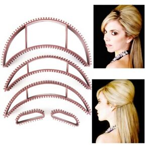 5Pc BROWN HAIR BUMPITS SET Insert Lifters Volume Beehive Style Shaper Accessory