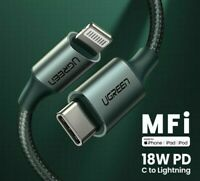 MFi USB C To Lightning IPhone Charge Cable PD18W Fast Type C Charging Data Cable