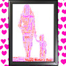 Personalised Mum Son Daughter WORD ART GIFTS Mothers Day Present love you Mummy