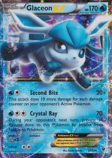 Glaceon Ex 20/124 Ultra Rare Holo NM Pokemon Card