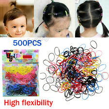 HOT 500pcs Rubber Elastic Hairband Rope Ponytail Holder Hair Band Ties Braids A1