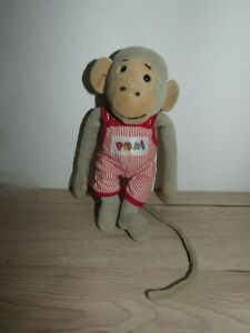 peluche doudou singe popi 25 cm bayard presse super état