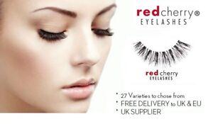 Natural Long Black Handmade Thick Makeup Fake Eyelashes False Red Cherry Lashes!