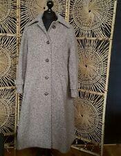 Ladies ALLANDER irish TWEED WOOL COAT UK house of frazer pure wool long 14 16 18