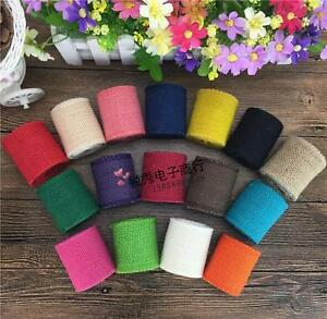 Various colors Jute Burlap Ribbon Trims Rustic Crafts  Wedding Party Decoration