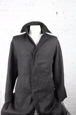 Paul Smith Men's 100% Wool Black Button Front Collared Long Jacket Coat L