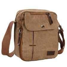 Men's Vintage Canvas Leather Satchel Messenger Bag School Military Shoulder Bag