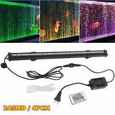 Color Changing Led Air Bubble Light Underwater Submersible Aquarium Fish Tank Nc