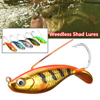 Weedless Shad Lures Perch Fishing Wobblers Weedless Crankbait Pike Fishing Lure
