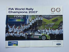 Marcus Gronholm Hand Signed BP Ford World Rally Champions 2007 Poster Rare.