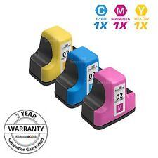 3pk Color 02 Set Printer Ink Cartridge for HP Photosmart C6180 3210 C6280