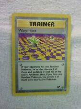 Carte pokémon trainer warp point 126/132 commune carte anglaise carte usée