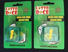 Pair of Lotto Dice Help Pick The Winning Numbers