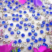 5mm Sew On Crystal Rhinestones 140 pcs SS24 Sapphire Blue Birthstone September