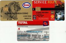 LOT DE 3 CARTES CARBURANT (ESSO / TOTAL / SHELL / STATION SERVICE / FORMULE 1)