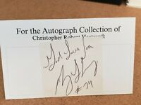 Terry Long (d.2005) Steelers AUTOGRAPHED 3x5 index card - *RARE*