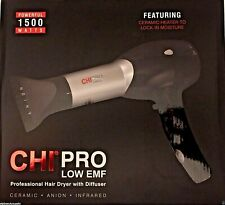 CHI PRO AUTHENTIC LOW EMF 1500W CERAMIC INFRARED LIGHT IONIC DRYER W/DIFFUSER