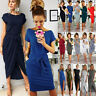 Womens Ties Ladies Loose Short Sleeve Holiday Party Casual Wrap Mini Maxi Dress