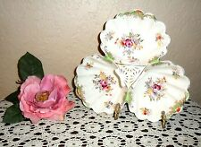 CHIC & GORGEOUS VINTAGE HOLLYWOOD REGENCY 1940'S TRIPLE SERVING CANDY DISH