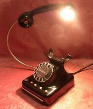 Tischlampe aus Telefon gefertigt LED 5W Schönes Geschenk! schwarz