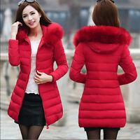 Giubbotto donna invernale parka piumino imbottito giacca lunga