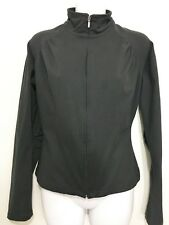 Lucy Womens S Black Long-Sleeve Jacket Full ZIp