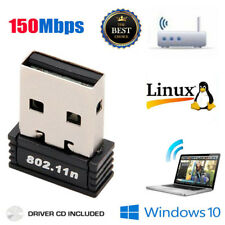 Mini USB WiFi WLAN 150Mbps Wireless Network Adapter 802.11n/g/b Dongle US NEW