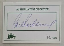 New listing CARL RACKEMANN CRICKET SIGNED IN PERSON TEST PLAYER CARD AUSTRALIA ENGLAND