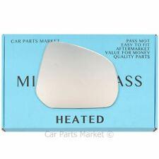 Left Passenger Side Heated Mirror Glass for Nissan Pixo 2009-2019 0374LSH