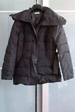 Doudoune dame noire, plumes véritables, zip ceinture taille 44
