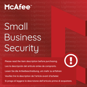 McAfee Small Business Security 2020 - 5 to 25 devices for 1 year