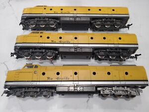 3 HO Diesel Denver Rio Grande Model Trains