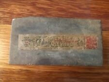 Vintage Pikes Lilly White Washita Oil Stone With Labels 4 Inch Sharpening Stone