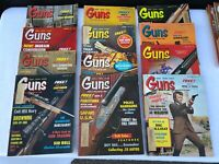 Vintage Lot of 12 Guns magazines from 1972 - Full Year