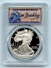2004 W $1 Proof American Silver Eagle 1oz PCGS PR70DCAM Leonard Buckley