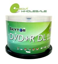 50 SKYTOR 8X Blank DL/ DUAL DOUBLE LAYER DVD+R 8.5GB Logo+50 FREE PAPER SLEEVES