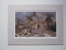 David Shepherd print 'Arnhem, 5pm The Second Day' A Bridge Too Far MOUNTED