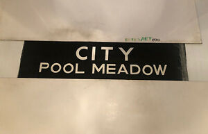 """West Mids Coventry Bus Destination Blind 30.12.78 33"""" - City Pool Meadow 2"""