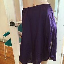 Vintage  Van Raalte Half Slip With Side Slit  Purple Size  S