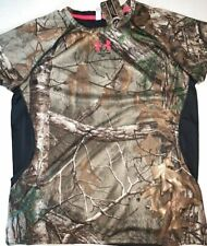 NWT Under Armour Women's XXL Hunting Scent Control RealTree Short Sleeve Tee