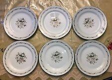 """Luncheon Plates, Romance by Diamond China Set of 6--9 1/4"""""""