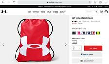 NEW Under Armour OZSEE Sackpack/Gym Bag/Backpack