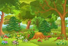 Cartoon Forest Park Photography Background Photo Studio Props Backdrops Vinyl