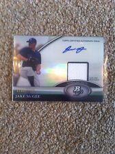 + + Jake McGee 2011 Bowman Auto & RELIQUIA # avrebbe Baseball Card #JM - Tampa Bay Rays + +