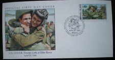 Cubierta 1945 cubierta de Estados Unidos/URSS tropas vínculo en Elba Río la segunda guerra mundial-Marshall Island