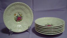 "Lot of 7 Wedgwood Tintern Wellesley 5 3/4"" Saucer Plates Floral Butterfly AL9460"