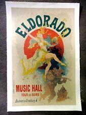 Orignal Vinatge Jules Cheret Poster, Eldorado, Mounted On Linen